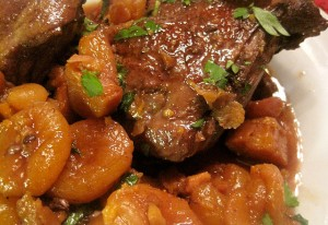 Ducklings Stewed in Red Wine and Winter Fruits
