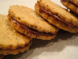 Brown Sugar Poppyseed Sandwich Cookies