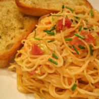 Capellini with Artichoke Hearts in a Tomato Cream Sauce