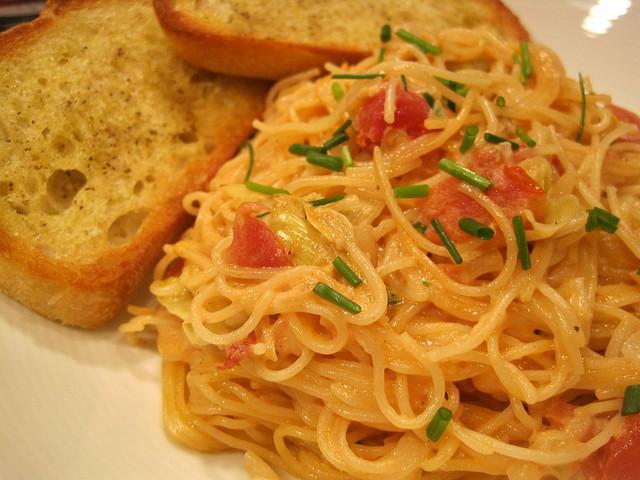 Capellini with Artichoke Hearts in a Tomato Cream Sauce | Spache the ...