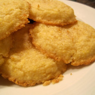 Lemon Cornmeal Shortbread Cookies