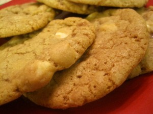 White Chocolate Heath Cookies