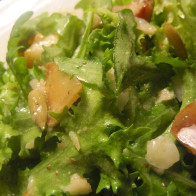 Peppery Green Salad with Manchego Cheese and Sauteed Pears