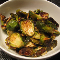Maple Dijon Roasted Brussels Sprouts