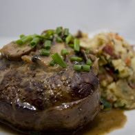 Filet Mignon with Mushroom Brandy Sauce