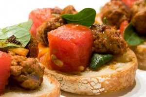 Spanish Tostadas with Chorizo and Watermelon