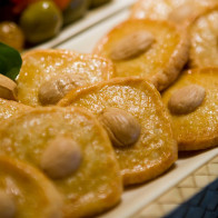 Manchego Crackers with Marcona Almonds