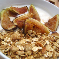Pine Nut and Black Pepper Granola with Figs and Goat's Milk Yogurt