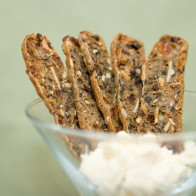 Wild Rice Crackers