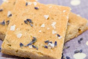 Salted Honey Lavender Shortbread