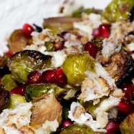 Roasted Brussel Sprouts with Pomegranates and Vanilla-Pecan Butter