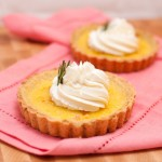 Thomas Keller's Lemon Sabayon Tart with Rosemary and Honey-Mascarpone Whipped Cream