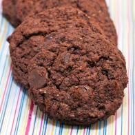 Coconut Double-Chocolate Cookies (Vegan)