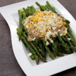 Asparagus with Hazelnut Vinaigrette and Chopped Egg