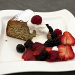 Orange Poppy-Seed Cake with Berries and Crème Fraîche