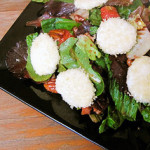 Roasted Strawberry Salad with Baked Goat Cheese