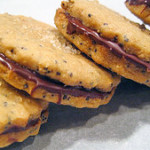 Brown Sugar Poppyseed Sandwich Cookies