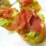 Asparagus, Leek, and Prosciutto Tartines