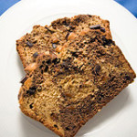 Dark Chocolate Peanut Butter Banana Bread
