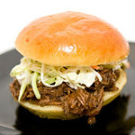 Slow-Cooker BBQ Beef with Sweet Cole Slaw