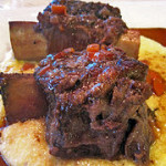 Braised Short Ribs over Creamy Goat Cheese Polenta