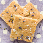 Salted Honey Lavender Shortbread