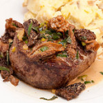Filet Mignon with Morels in Truffle Butter and Tarragon Marsala Sauce