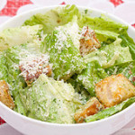 Basil Caesar Salad with Homemade Croutons