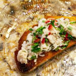 Crab, Chile, and Mint Crostinis