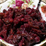 Cranberry, Shallot, and Dried Cherry Chutney