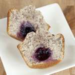 Almond-Hazelnut Financiers with Cherries