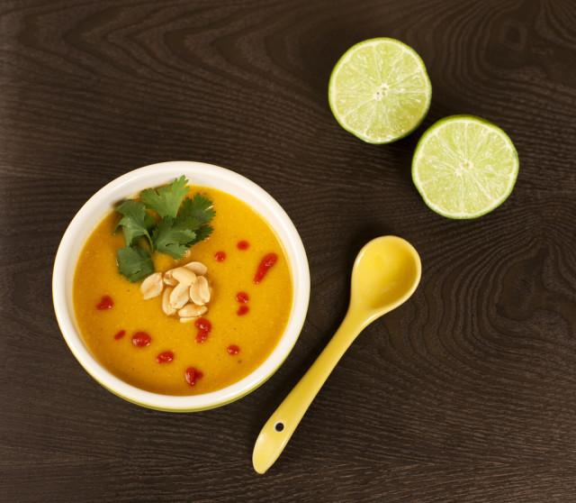 Sweet Potato and Peanut Soup (Vegan)   Spache the Spatula