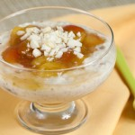 Coconut Rice Pudding with Cherry-Lime Compote