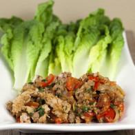 Thai-Style Turkey Lettuce Wraps
