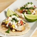 Blackened Mahi Tacos with Corn and Watermelon Salsa