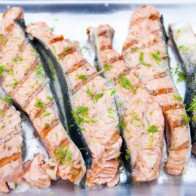 Grilled Salmon with Lime Butter Sauce | spachethespatula.com #recipe