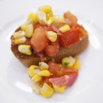 Grilled Corn and Tomato Bruschetta