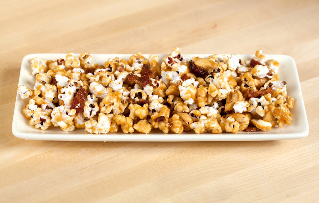 Bacon And Cashew Caramel Corn Recipe — Dishmaps