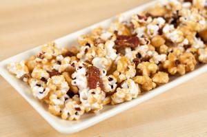 Bacon and Cashew Caramel Corn | spachethespatula.com #recipe