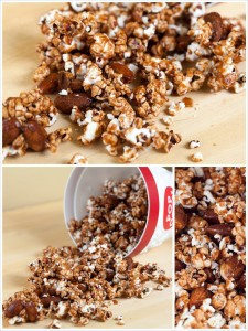 Chocolate Almond Popcorn | by Spache the Spatula (www.spachethespatula.com)