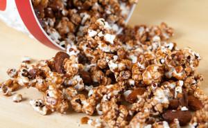Chocolate Almond Popcorn | by Spache the Spatula (www.spachethespatula.com)