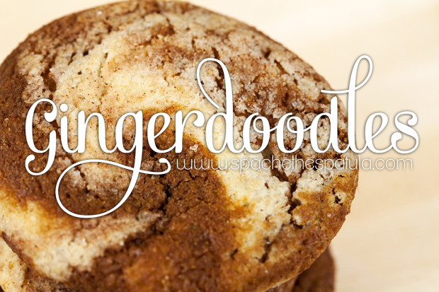 Gingerdoodles | spachethespatula.com #recipe