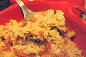 Pumpkin Mac & Cheese with Bacon   spachethespatula.com #recipe