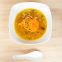 Roast Pumpkin Soup with Gruyère | spachethespatula.com #recipe
