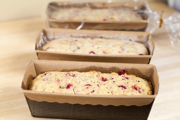 Cranberry-Eggnog Cakes