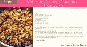 Vanilla Curry Popcorn   spachethespatula.com #recipe