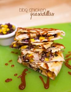 BBQ Chicken Quesadillas   spachethespatula.com #recipe