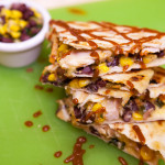 BBQ Chicken Quesadillas | spachethespatula.com #recipe