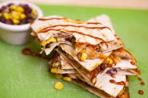 BBQ Chicken Quesadillas | spachethespatula.com #recipe