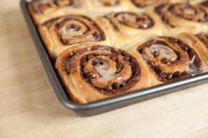 Chocolate Cinnamon Rolls | spachethespatula.com #recipe